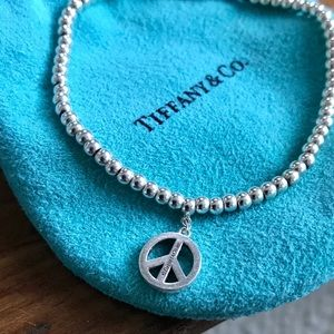 Tiffany & Co. Jewelry - Tiffany & Co. Silver Beaded Peace Bracelet
